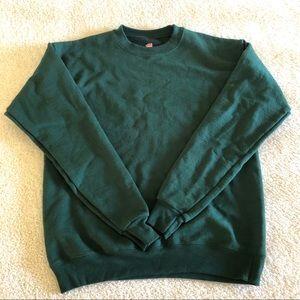 hanes crewneck sweatshirt pullover - forest green